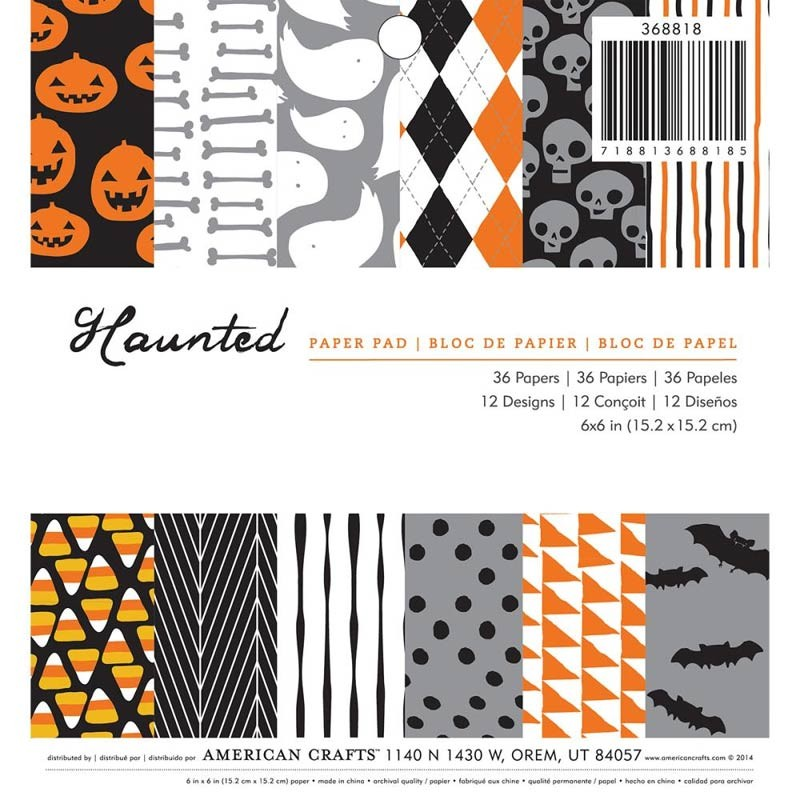 American Craft Haunted Halloween Paper Pad