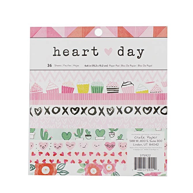 Heart Day 6x6 Paper Pack