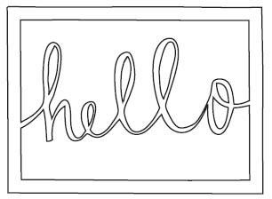 Hello Rectangle Die (10218)