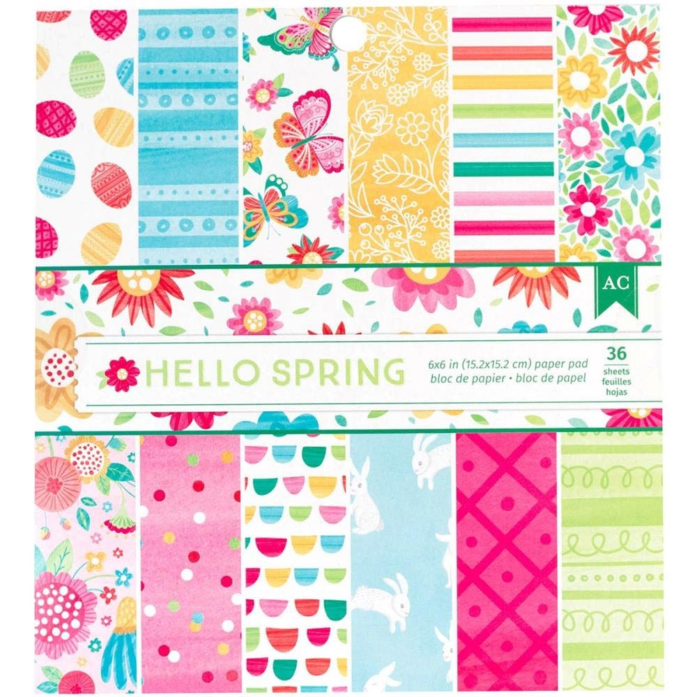 """American Crafts Hello Spring Paper Pad 6""""X6"""""""