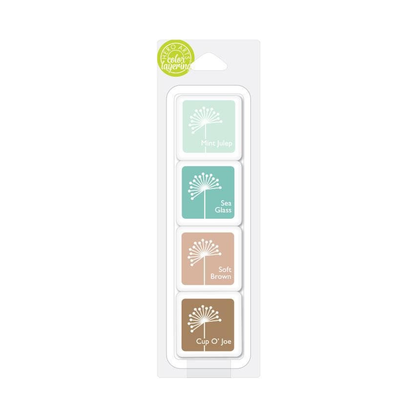 Hero Arts Color Layering Artist Ink Cubes, Tami's Mint Chip