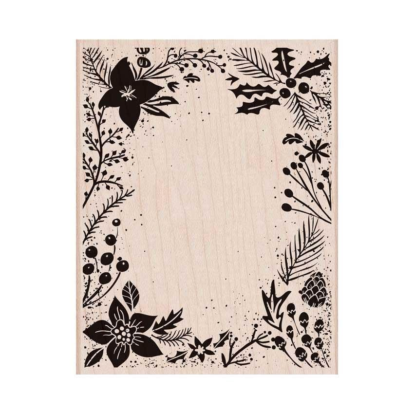 Hero Arts Wood Block Stamp, Holiday Floral Background