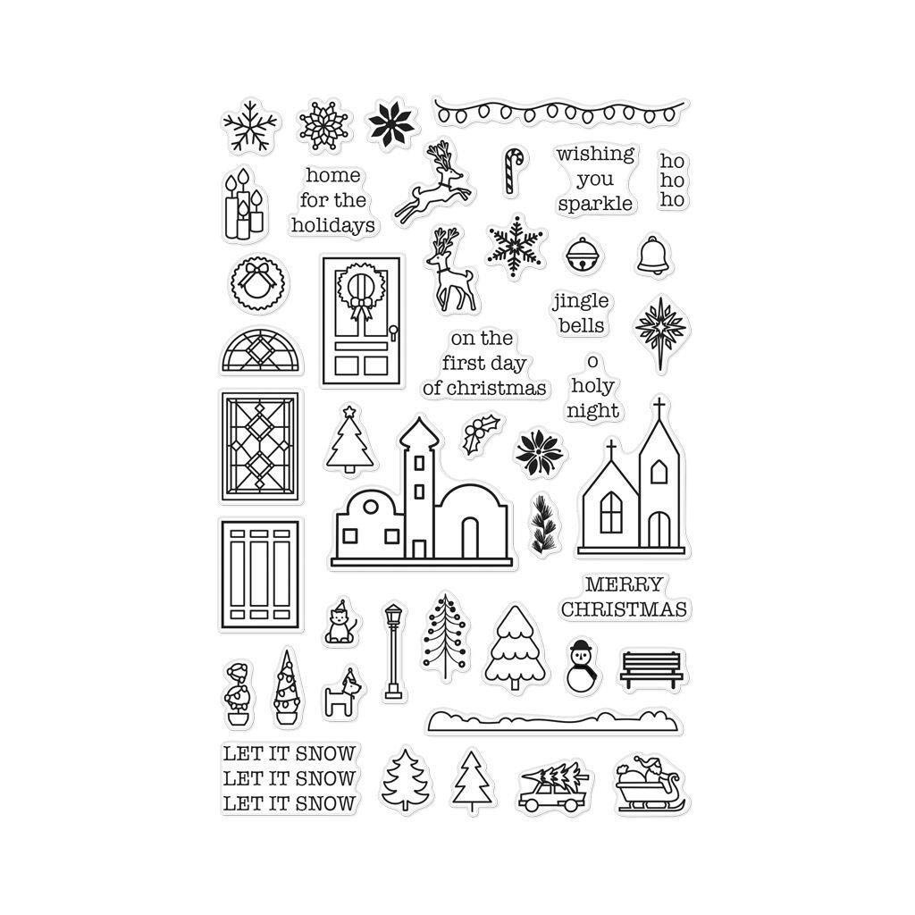 Hero Arts Clear Stamps, Mini Christmas
