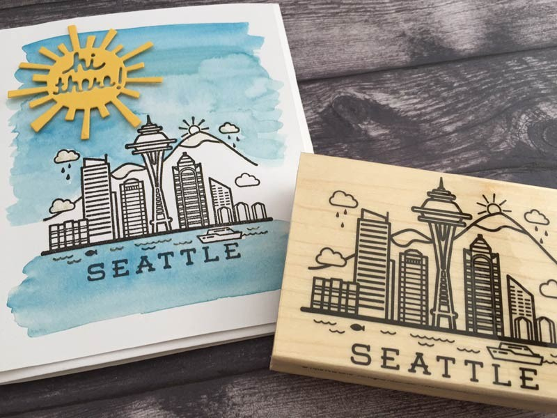 Seattle Stamp by Hero Arts
