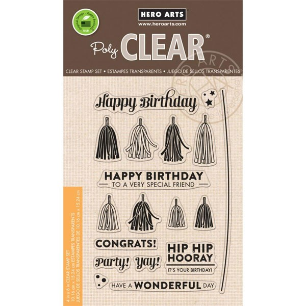 Hero Arts Tassel Clear Stamp Set