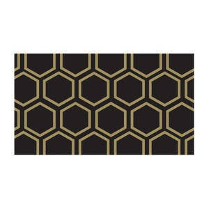 black and gold honeycomb tape