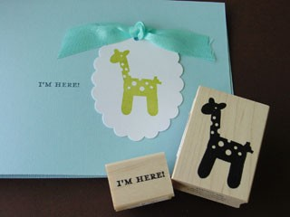 I'm Here Giraffe Card