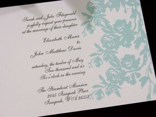 Rose Branch Invitation