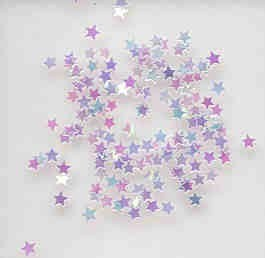 Mini Iridescent Star Confetti (1/8 in)