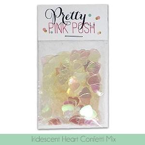 Iridescent Heart Confetti Mix