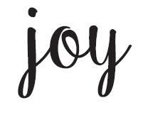 5602c - joy rubber stamp