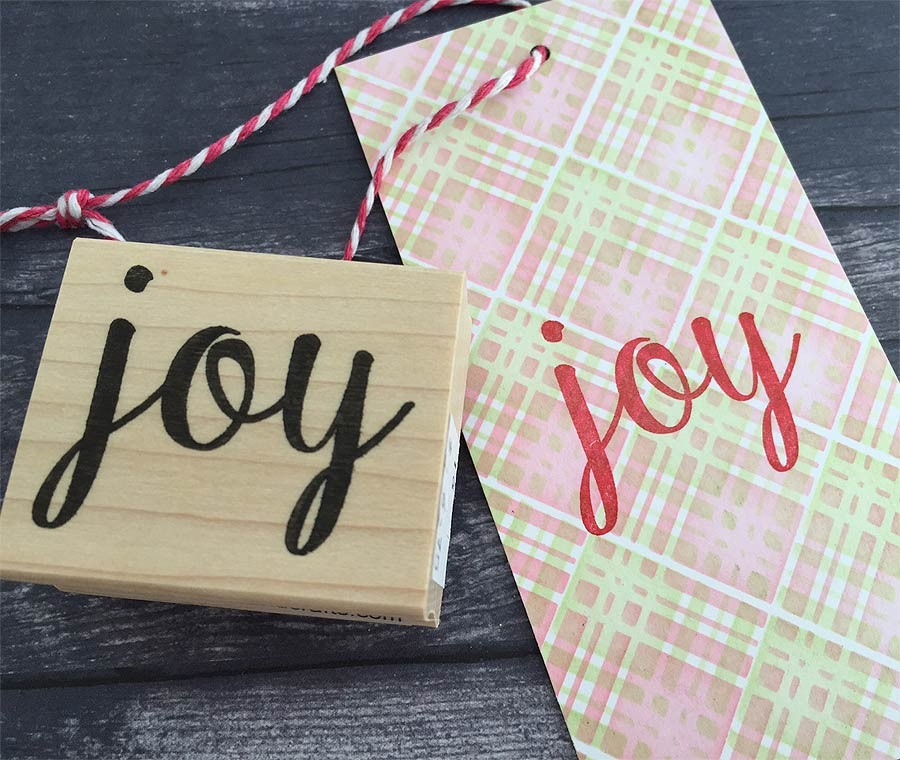 5602c - joy rubber stamp