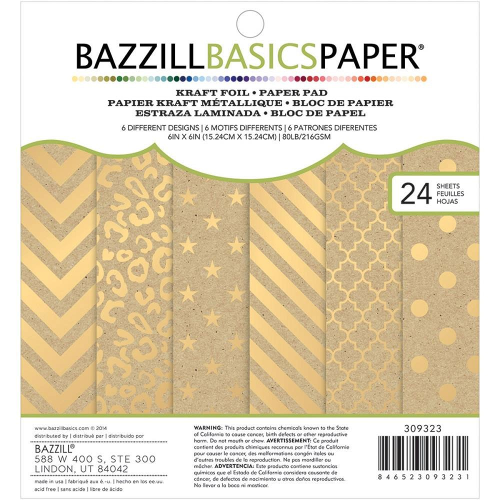 Bazzill Basics Kraft and Foil Cardstock