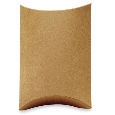Kraft Pillow Boxes  (5 per pack)