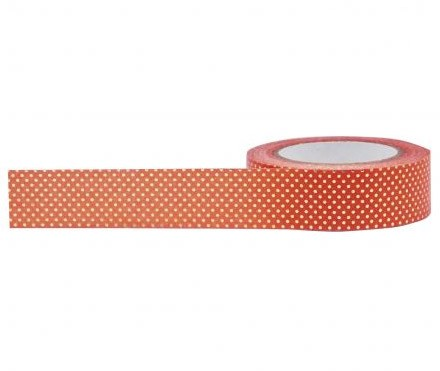 Orange Foil Dot Washi