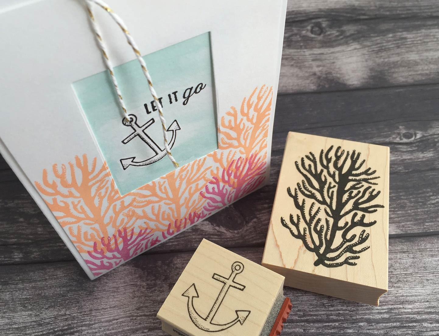 Let it go / Anchor stamp (5565d)