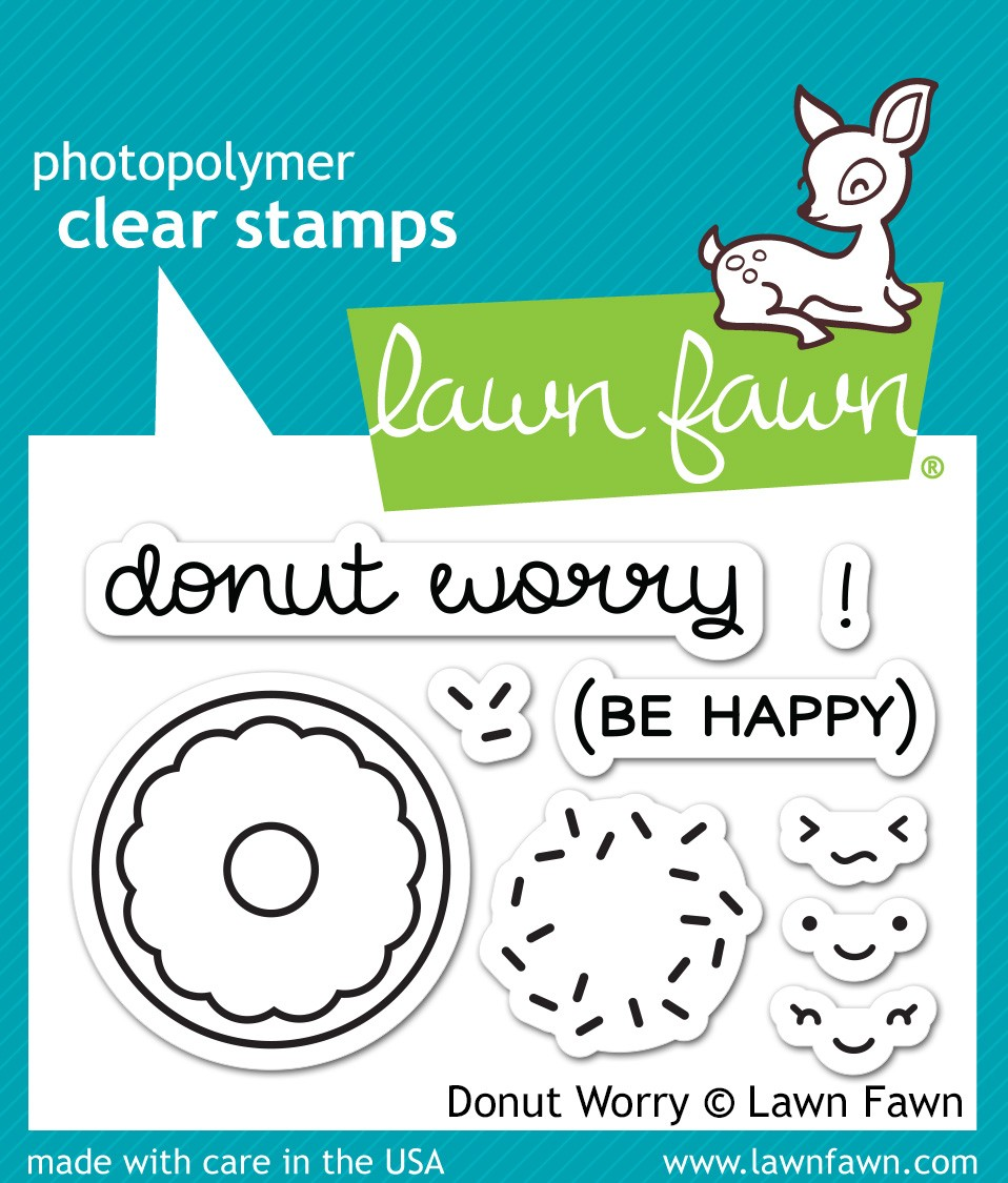 Lawn Fawn Donut Worry clear stamps
