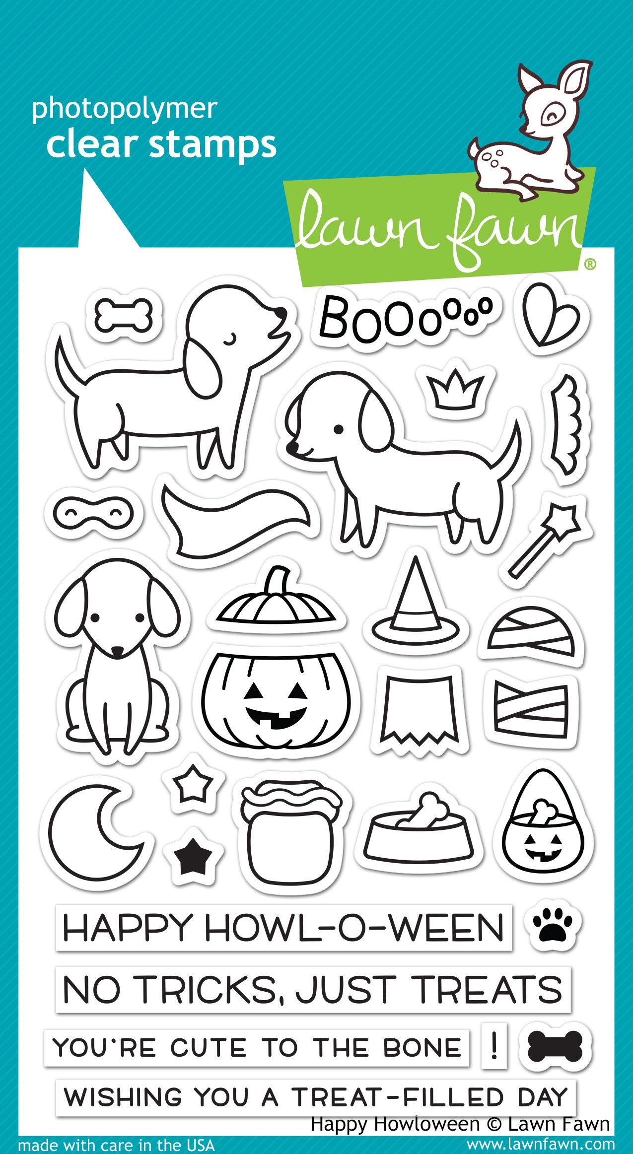 Lawn Fawn Happy Howloween Clear Stamp Set