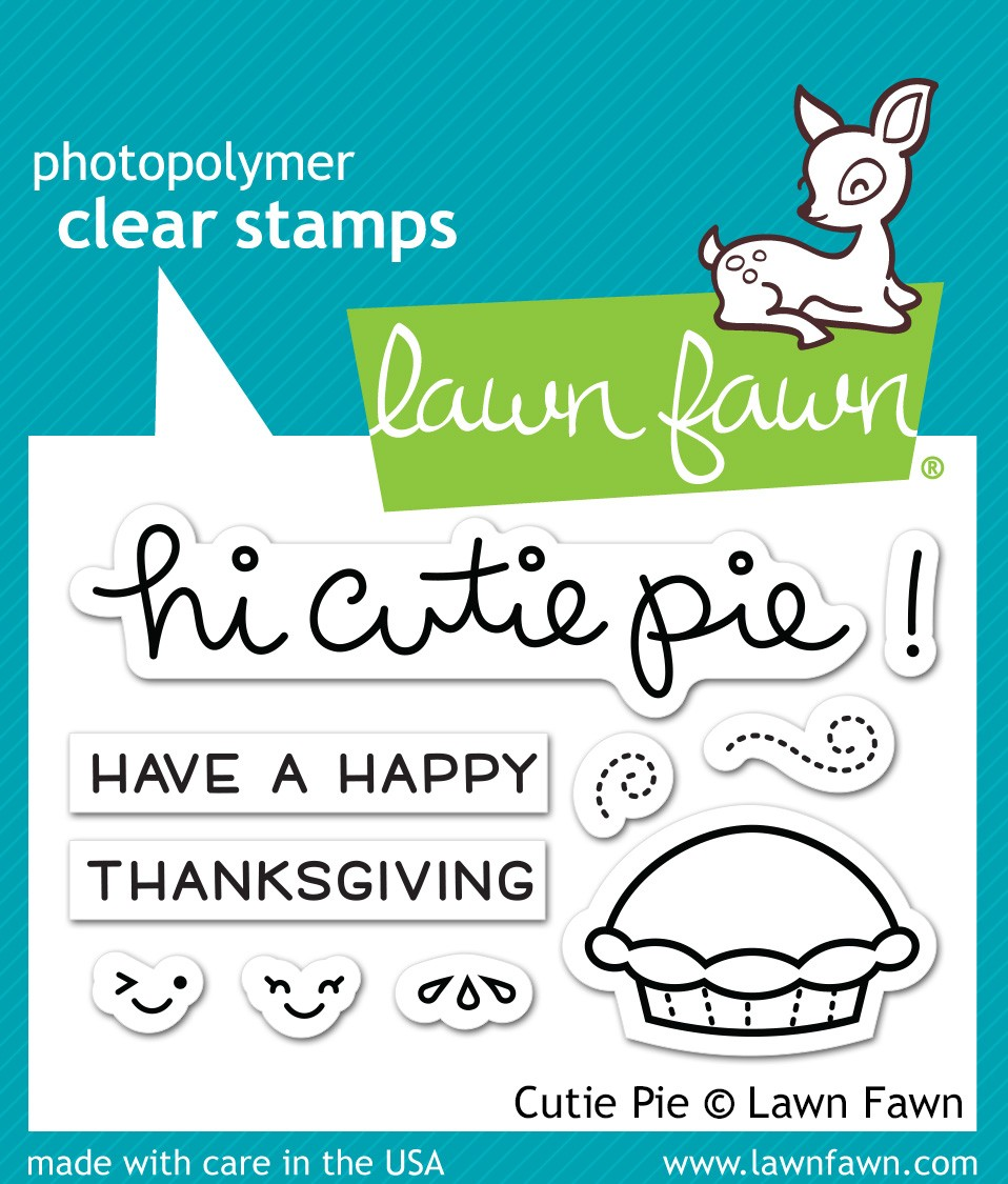 Lawn Fawn Cutie Pie Clear Stamps