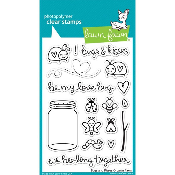 Lawn Fawn Bugs and Kisses Clear set