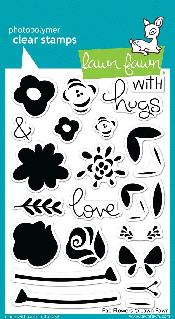Lawn Fawn Fab Flowers Clear Stamps