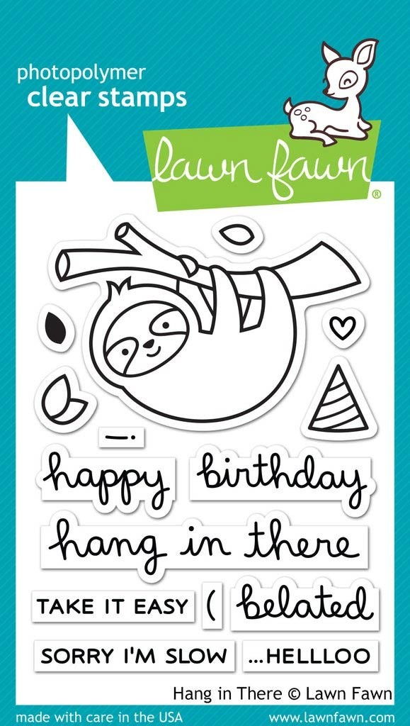 Lawn Fawn Hang in There Clear Stamp Set