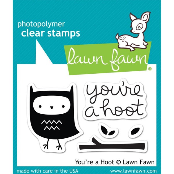 Lawn Fawn You're a Hoot clear set