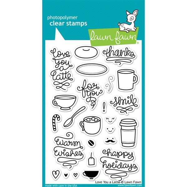 Lawn Fawn Love you a latte clear stamps