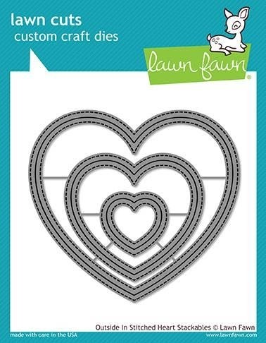 Lawn Fawn  Outside in Stiched Heart Stackables Die