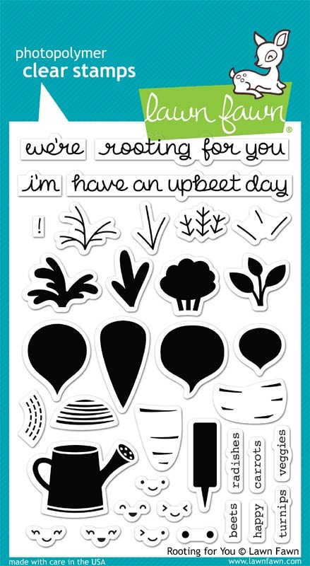 Lawn Fawn Rooting for You clear stamps