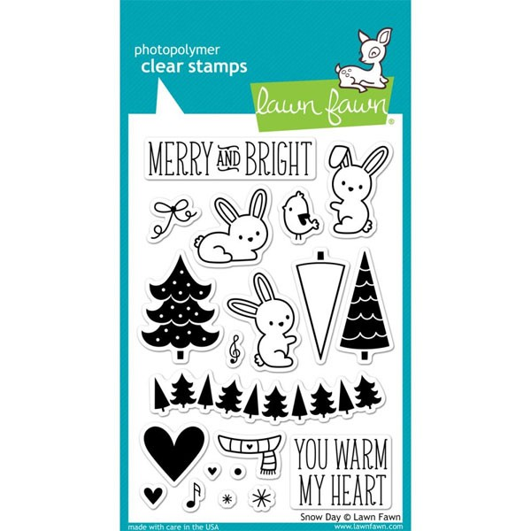 Lawn Fawn Snow Day Clear Stamps