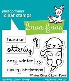 Lawn Fawn Winter Otter Clear Stamp Set