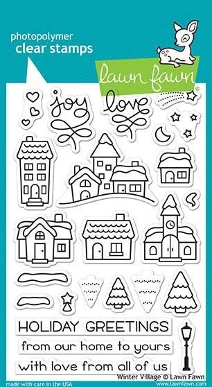 Lawn Fawn Winter Village Clear Stamp Set