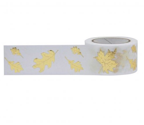 Gold Foil Leaves Washi Tape