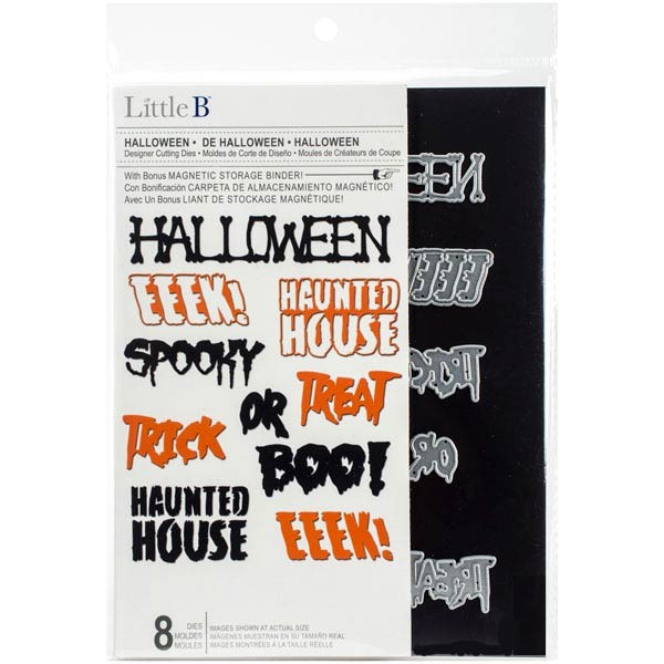 Little B Halloween Words Die Set