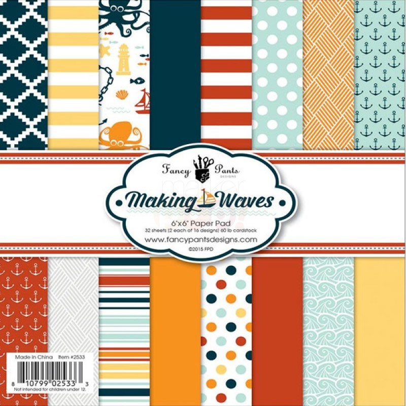 Fancy Pants Making Waves 6x6 Paper Pack