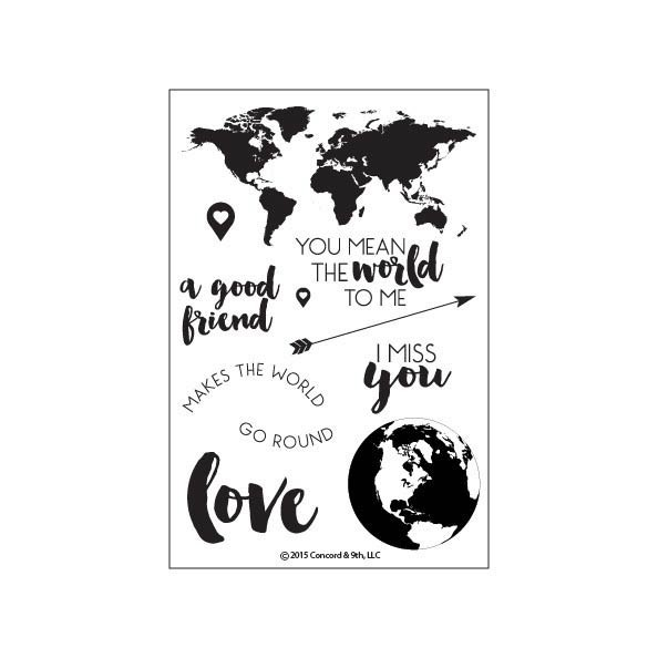 Concord and 9th Map Love Clear Stamp Set