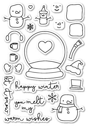 You Melt My Heart Clear Stamp Set [CL407]