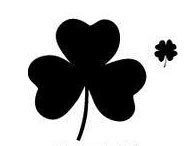 Shamrock Stamp with clover on the side!