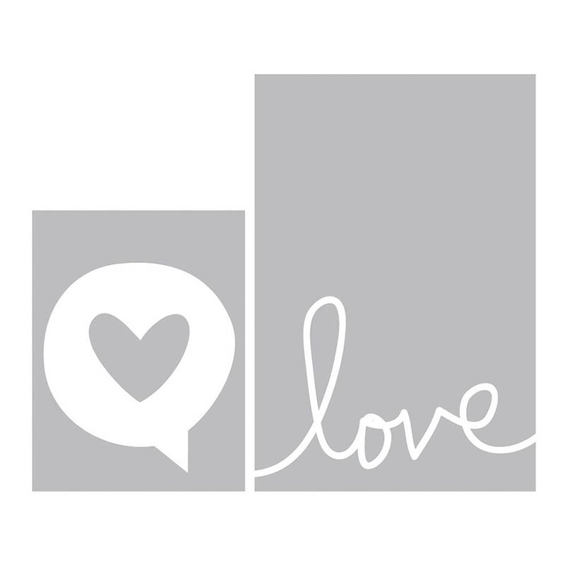 Project Life Love Embossing Folders 2/Pkg