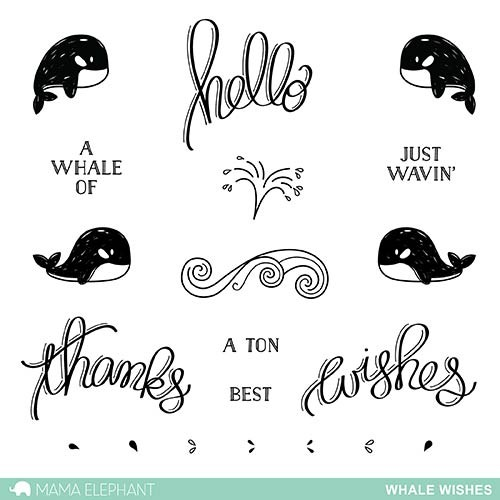 Mama Elephant Whale Wishes Clear Stamp Set