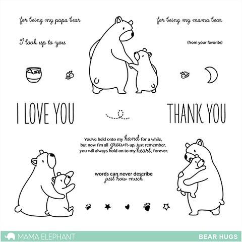 Mama Elephant Bear Hugs Clear Stamp Set