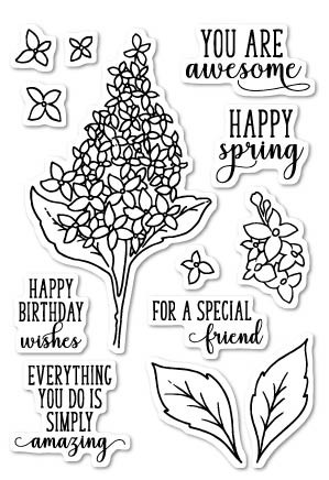 Memory Box Lilac Clear Stamp Set (cl5199)