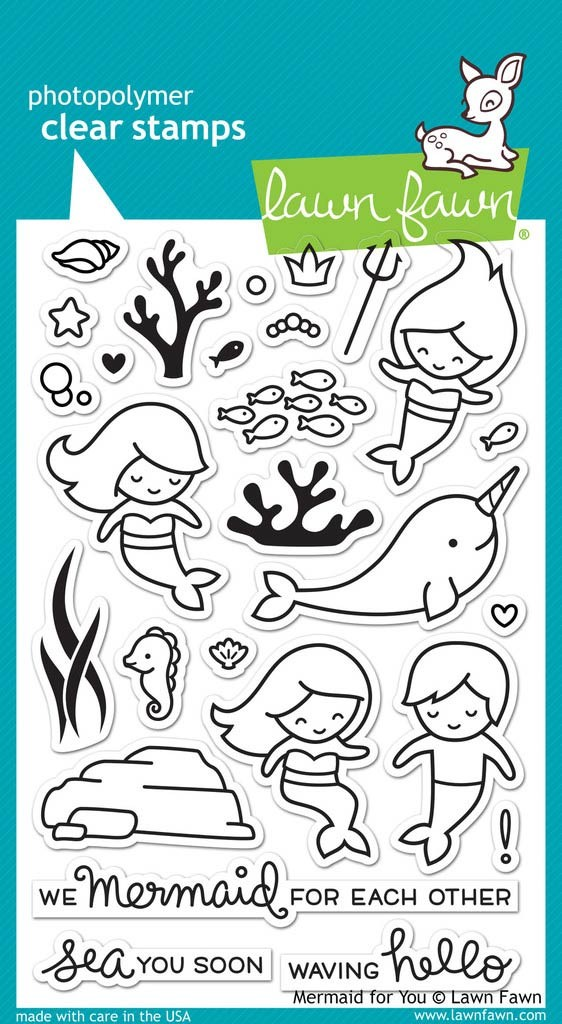 Lawn Fawn Mermaid for You Clear Stamps