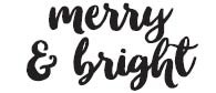 Merry and Bright Rubber Stamp 1594c