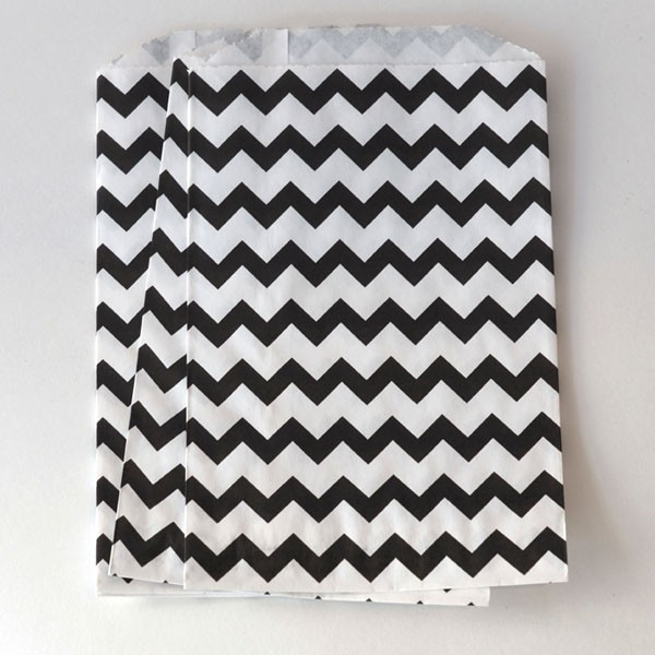 Mini Chevron Bag - black