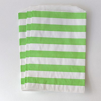 Middy bags - green stripe