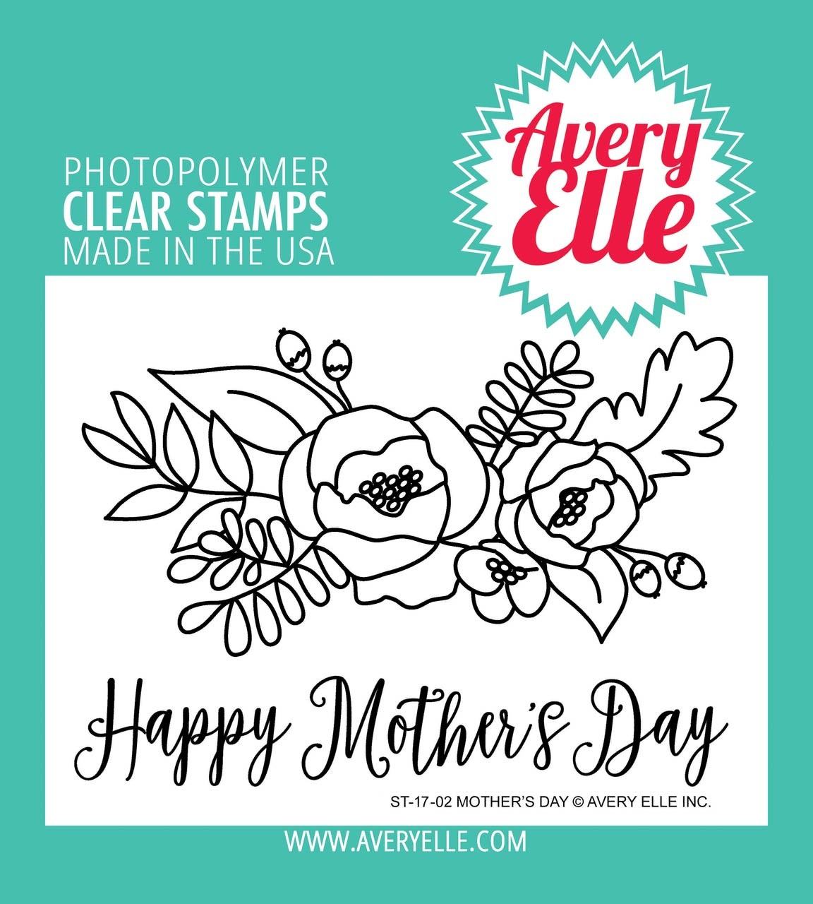 Avery Elle Mother's Day Clear Stamp Set