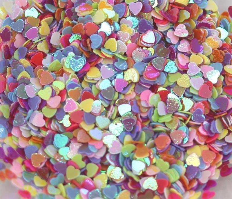 Multi Colored Mini Heart Confetti