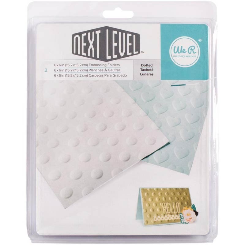 "Next Level Dotted Embossing Folders 6""X6"" 2/Pkg"